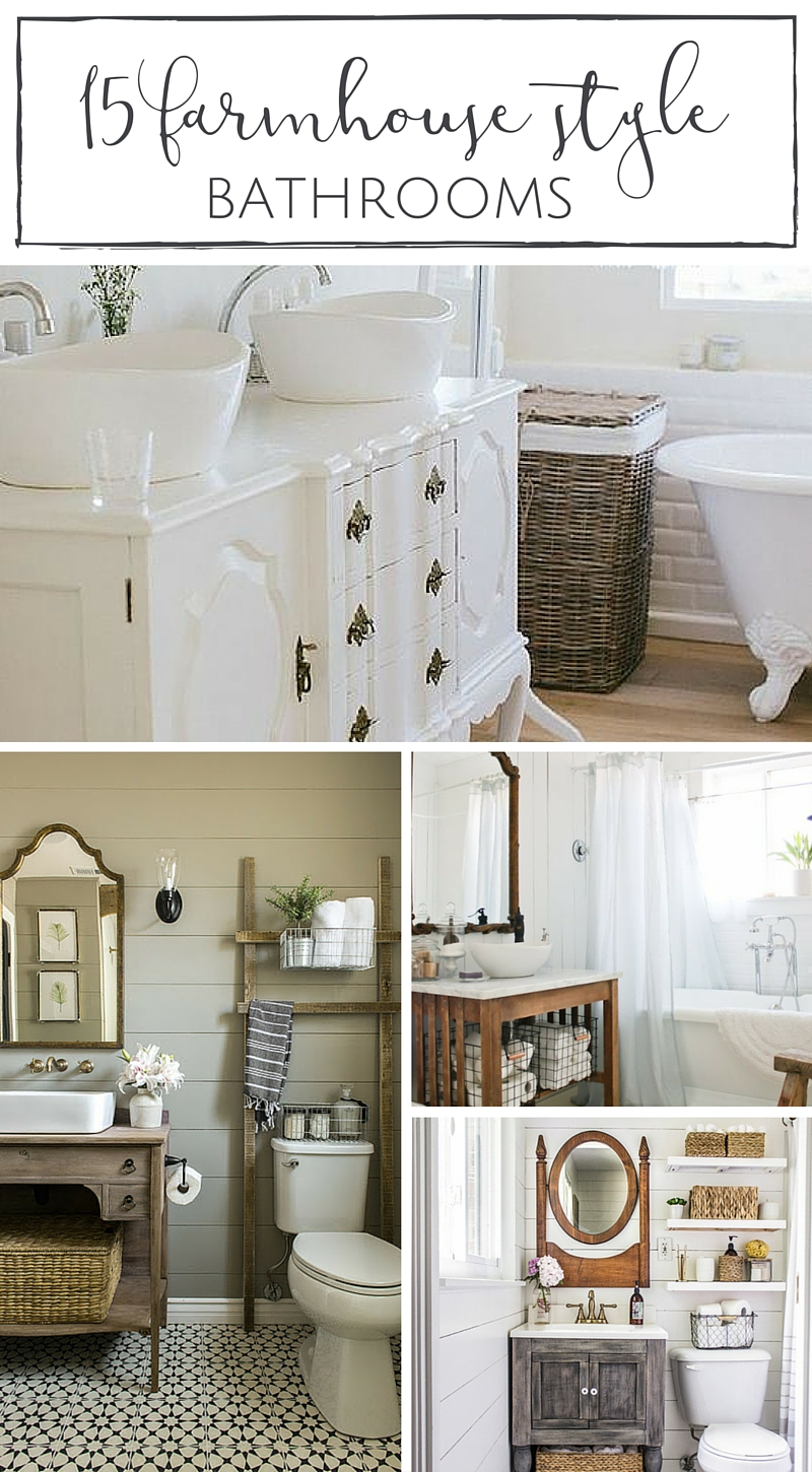 15 Farmhouse Style Bathrooms full of Rustic Charm - making ...