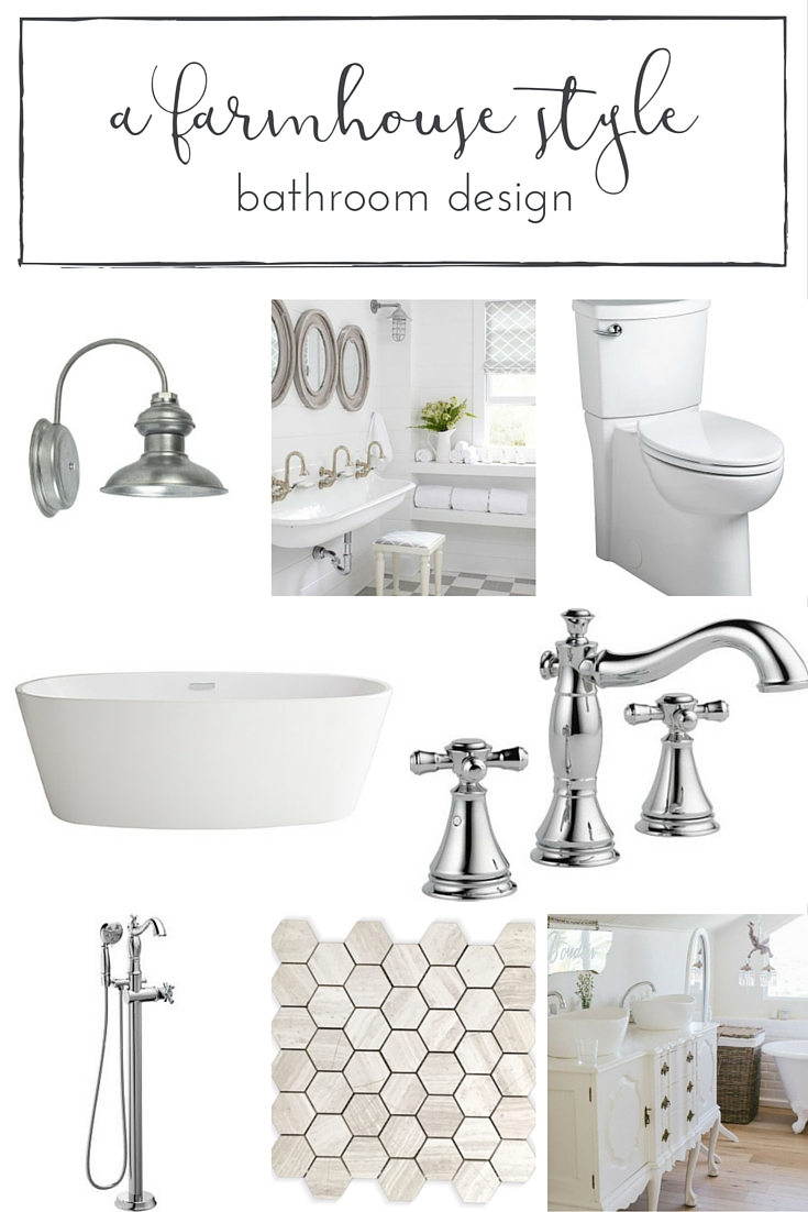 A dreamy farmhouse style bathroom design sure to inspire!