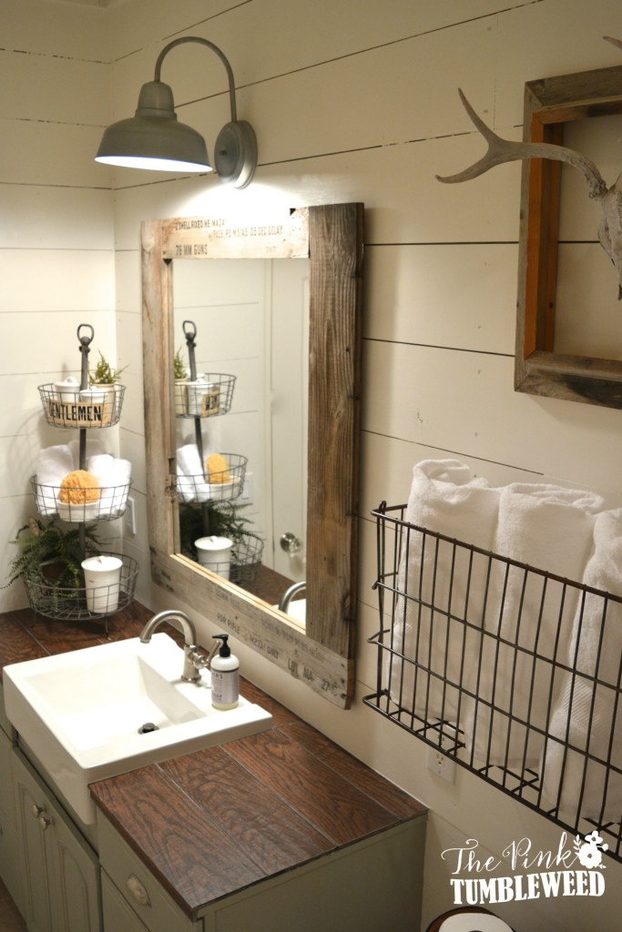15 Farmhouse Style Bathrooms full of Rustic Charm - making ... on Farmhouse Bathroom Ideas  id=37639