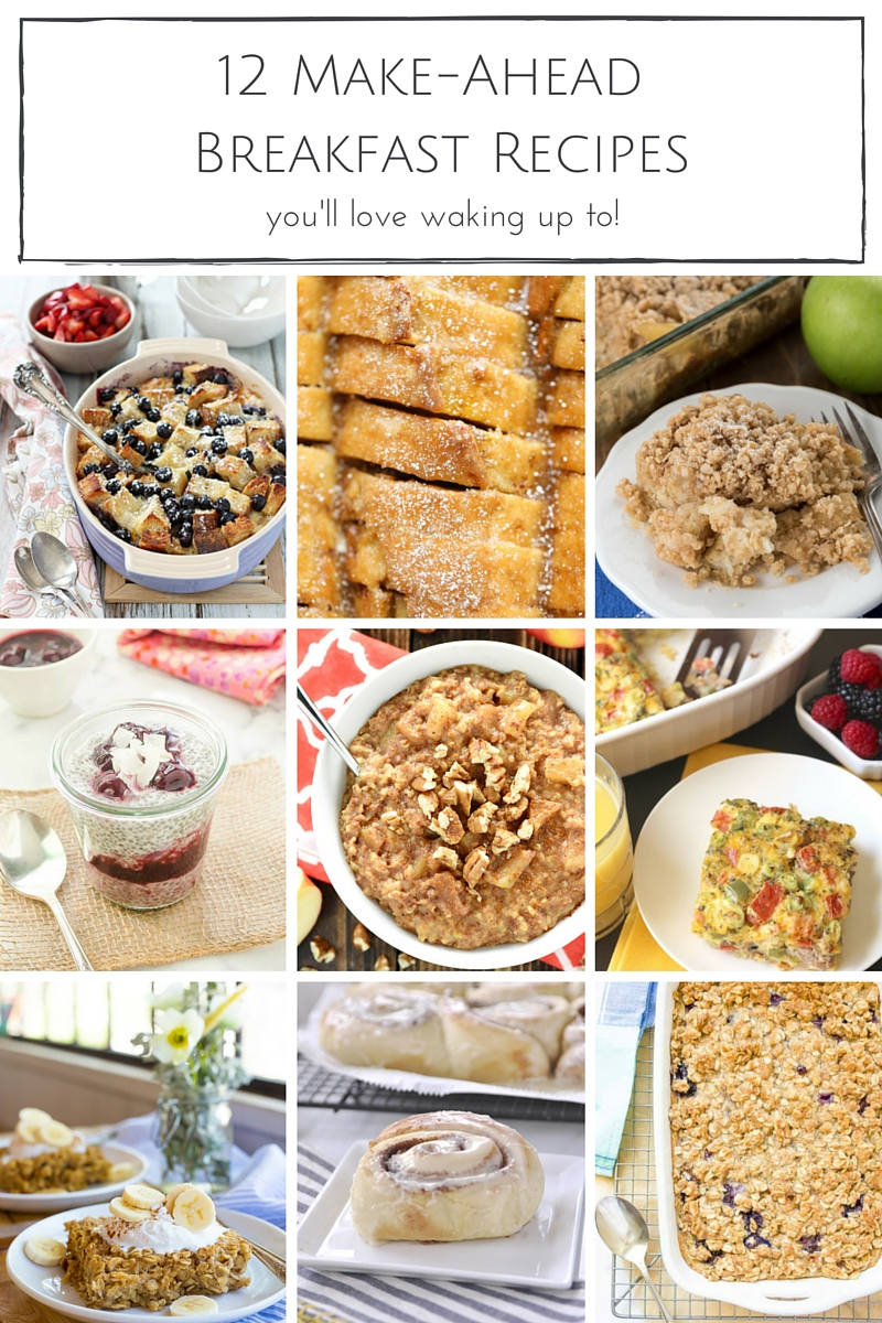 A delicious breakfast doesn't need to take all morning to make ... whip up these simple make-ahead breakfast recipes before you head to bed and wake up to a scrumptious, hearty breakfast any day of the week.