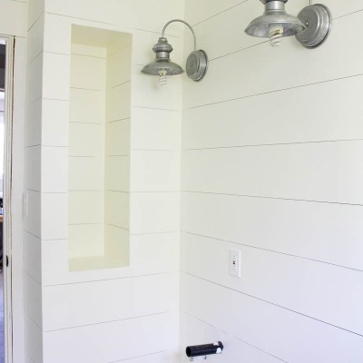 One Room Challenge {Week Five}: Walls, Paint & Barn House Lights – Oh the Difference a Week can Make!