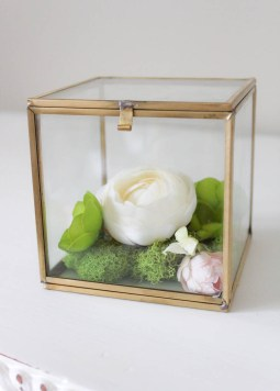Simple & Pretty Faux Flower Box Terrarium