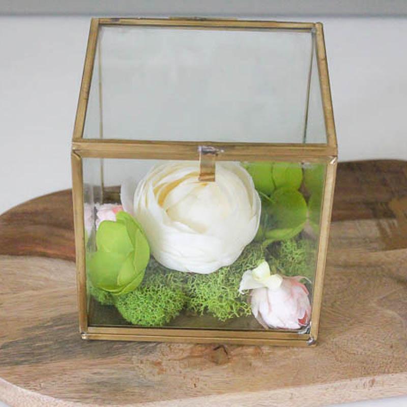 Faux Flower Box Terrarium - square-1