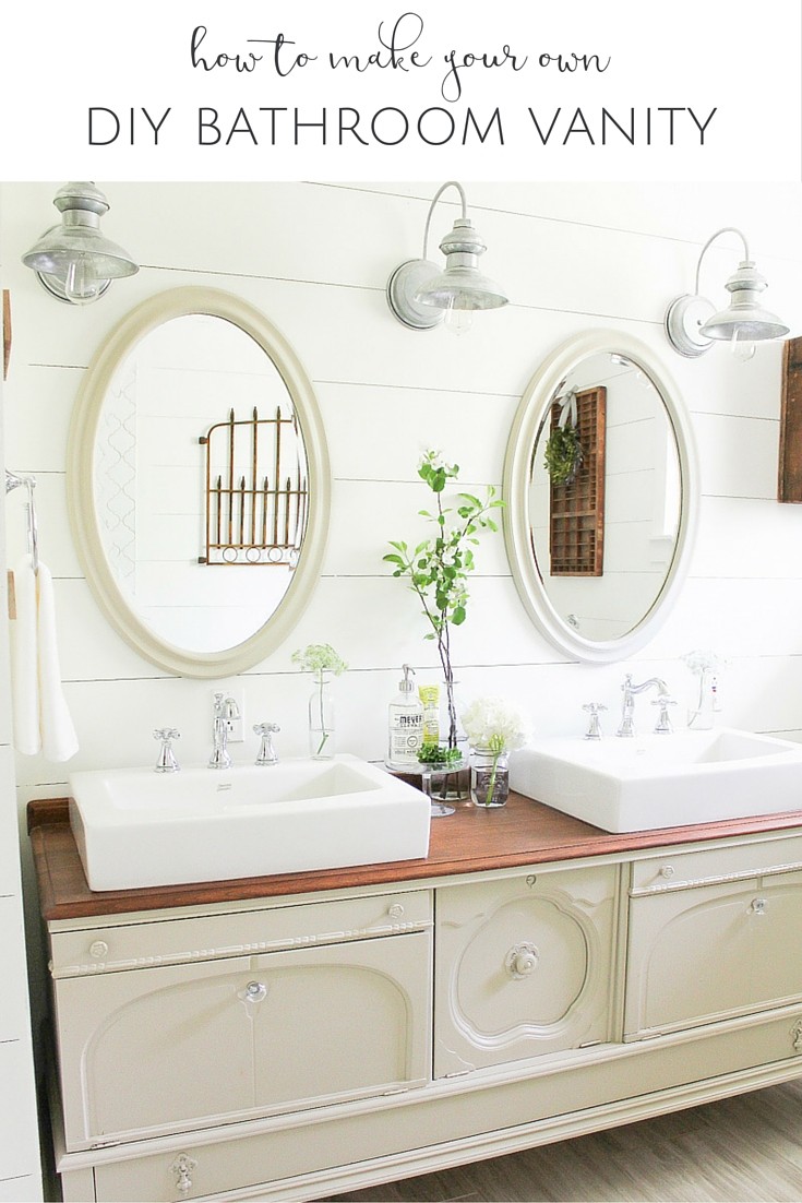 Everything you need to know about turning an old furniture piece into the DIY bathroom vanity of your dreams!