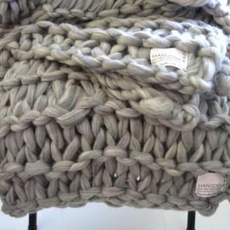 Hand Knit Wool Throw