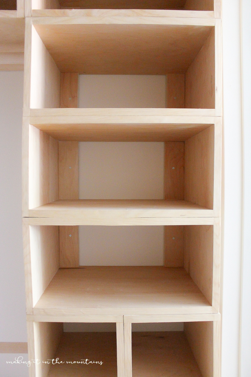 Diy custom closet organizer the brilliant box system for How to build a walk in closet step by step
