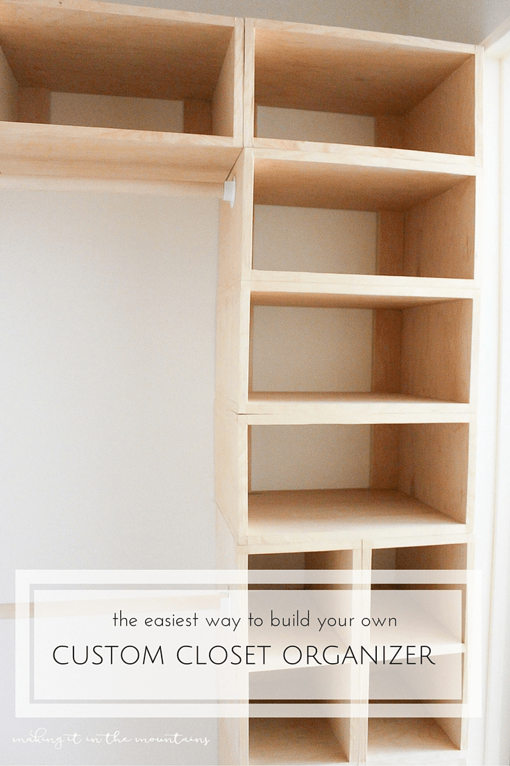 This brilliant DIY custom closet organizer is not only easy to build, but makes creating your own custom closet configuration both simple and affordable!