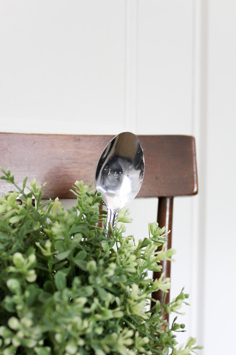 DIY Stamped Spoon Plant Markers | www.makingitinthemountains.com