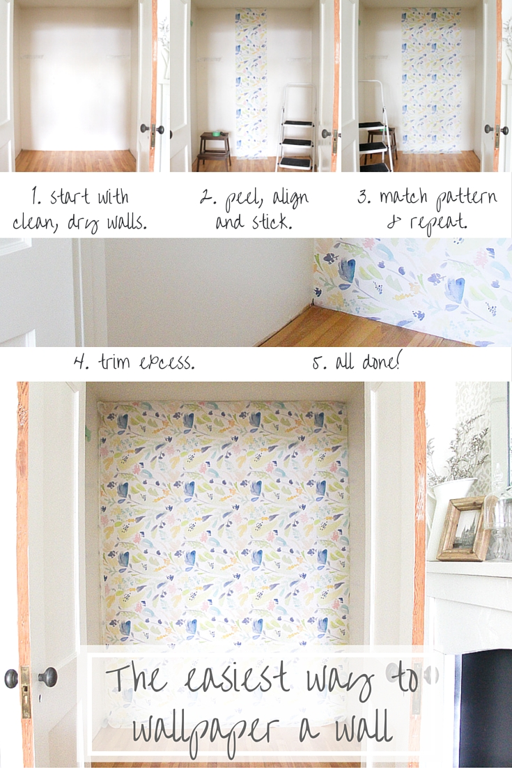 Wallpapering is SO easy with this brilliant peel and stick removable wallpaper! | www.makingitinthemountains.com