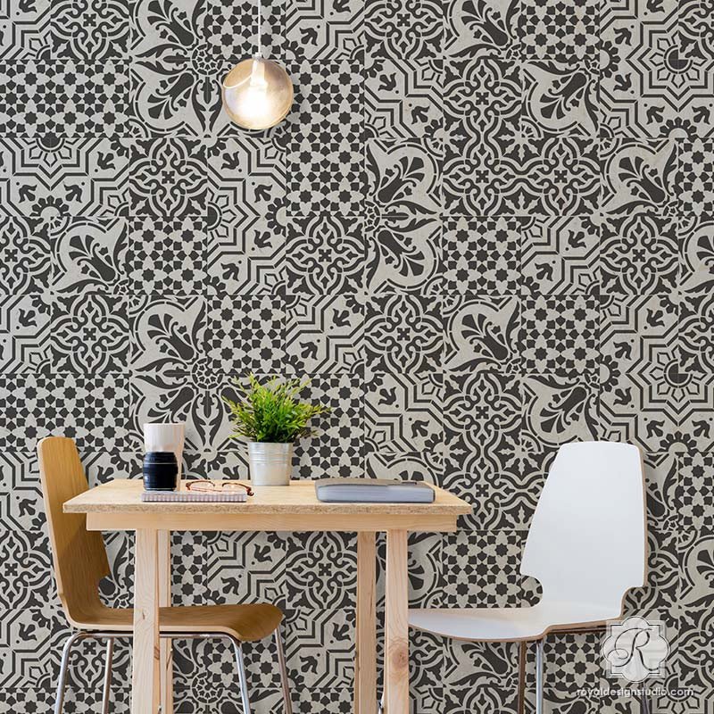 GORGEOUS Spanish Tile Stencils | https://royaldesignstudio.refersion.com/l/86d.64162