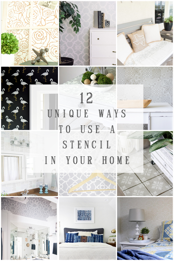 12 Ways to Use a Stencil in your Home