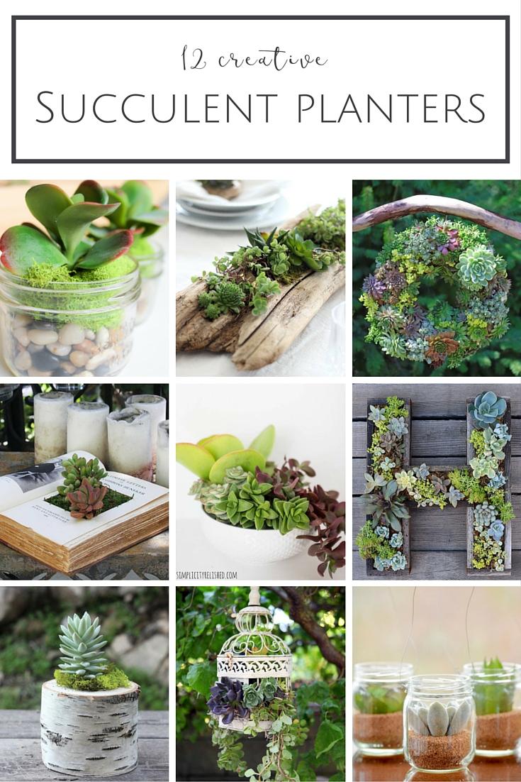 12 Creative Succulent Planter Ideas | www.makingitinthemountains.com