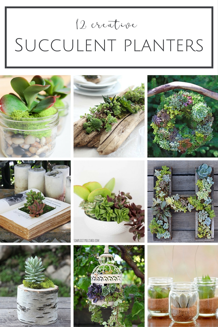 12 Creative Succulent Planter Ideas | www.makingitinthemountains.com