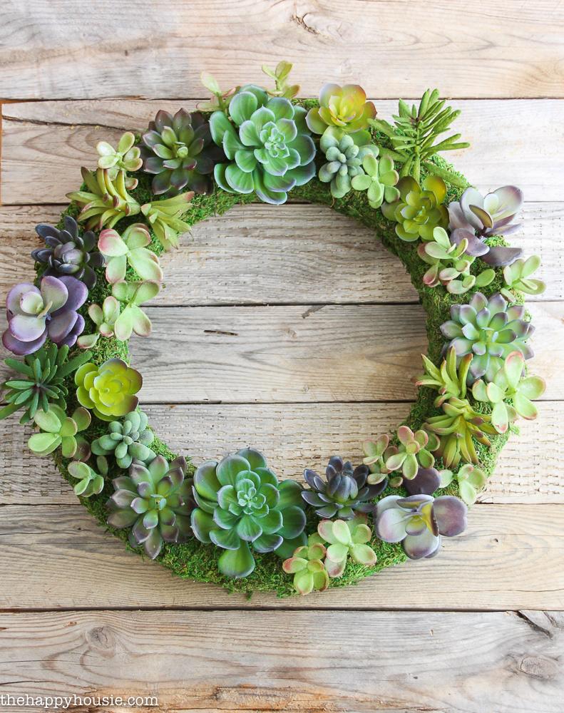 DIY Faux Succulent Wreath