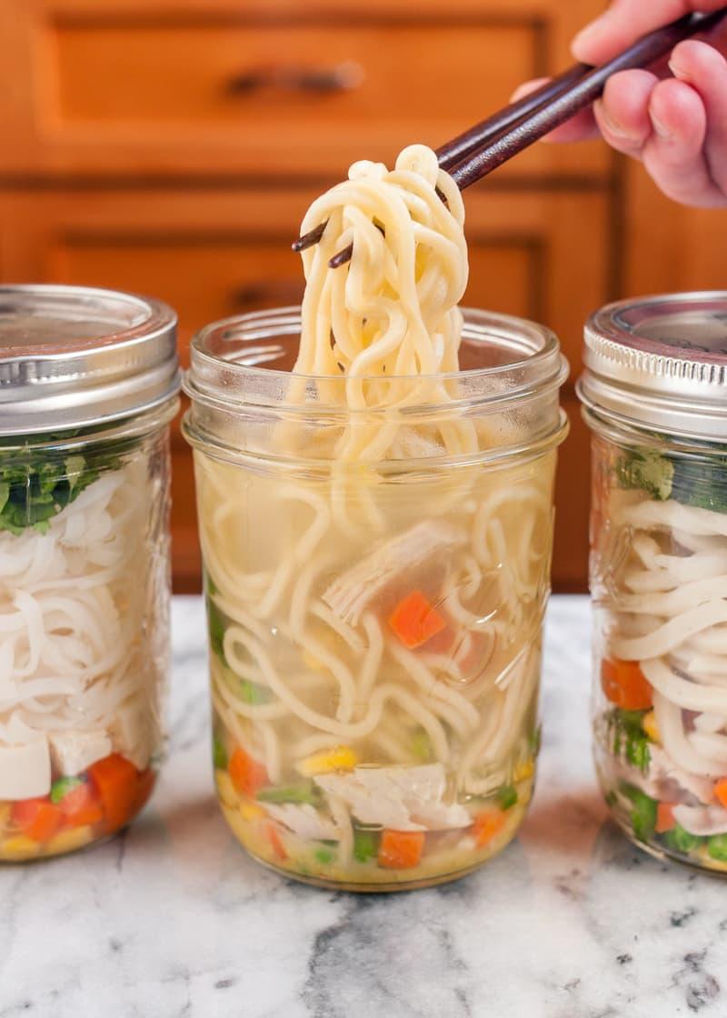 Mason Jar Instant Noodle Cups