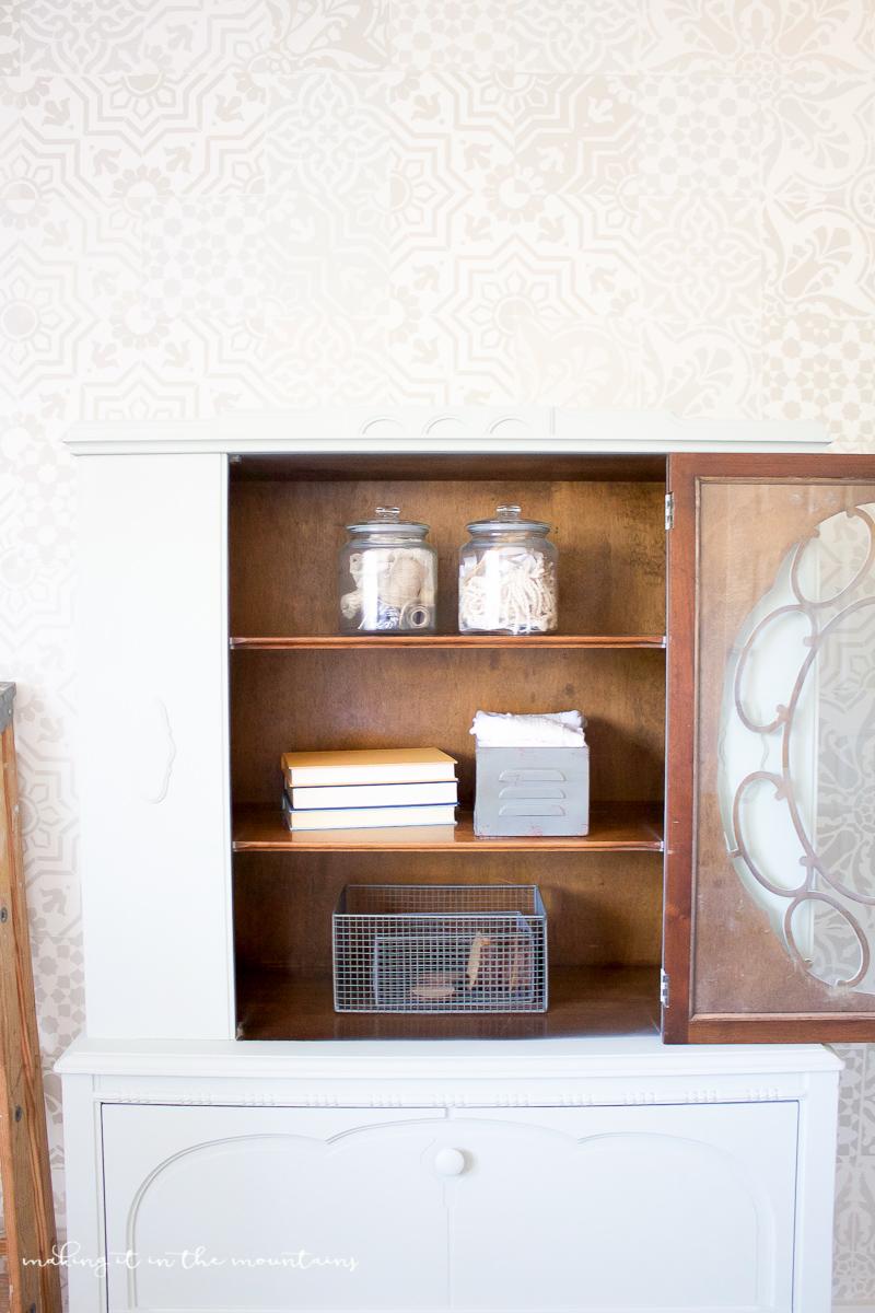 Farmhouse Style Office Storage