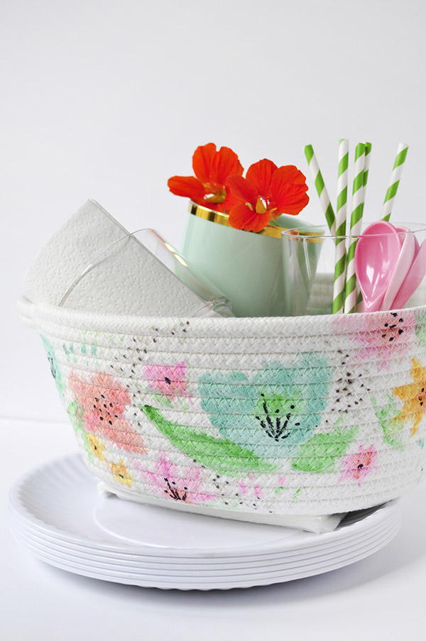 Watercolour Basket