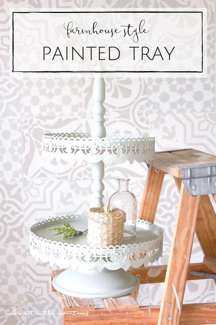 Ahhhh, the incredible power of paint! I can't wait to show y'all how I completely transformed this farmhouse tray in less than 5 minutes with the fastest and easiest coat of paint ever!
