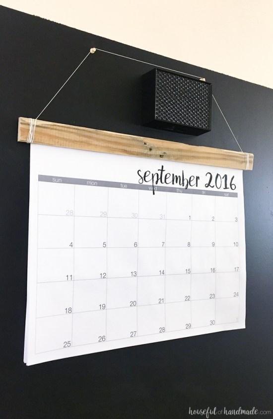 DIY Rustic Wall Calendar