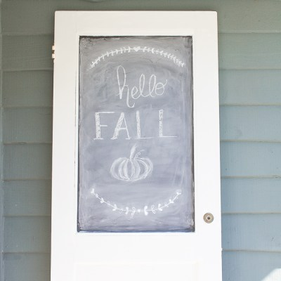 How to Create a Unique DIY Chalkboard from a Vintage Door (or Window)