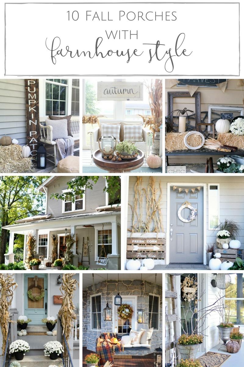 10 irresistibly cozy farmhouse Fall porches!