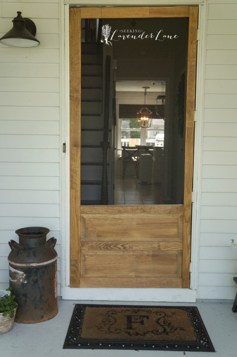 Farmhouse Style Screen Door