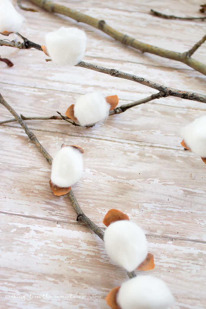 DIY Cotton Stems   www.makingitinthemountains.com