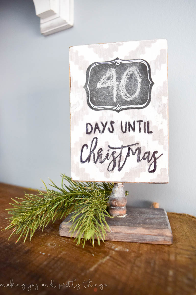 DIY Rustic Christmas Countdown Sign Making It In The Mountains