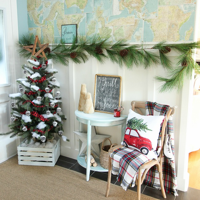 Classic Christmas Entry Way