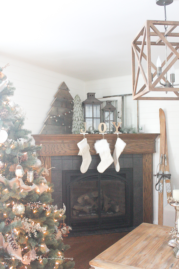 How to Decorate a Corner Fireplace Mantel for the Holidays ...