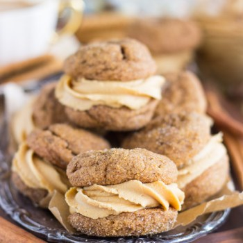 Soft Molasses Ginger Cookie Sandwiches with Cookie Buttercream