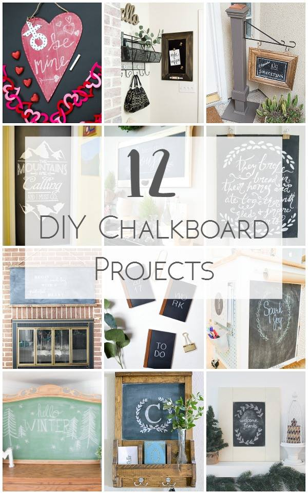 12 DIY Chalkboard Projects sure to Inspire!
