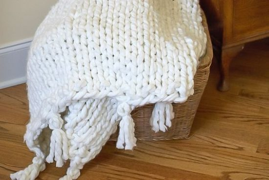 How to Knit a Chunky Blanket
