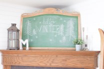 Painting over an old mirror is such a simple and inexpensive way to create a chalkboard with loads of charm and character!