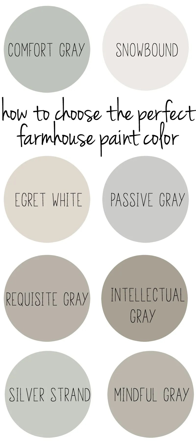 How to choose the perfect farmhouse paint colors for Choosing paint colors