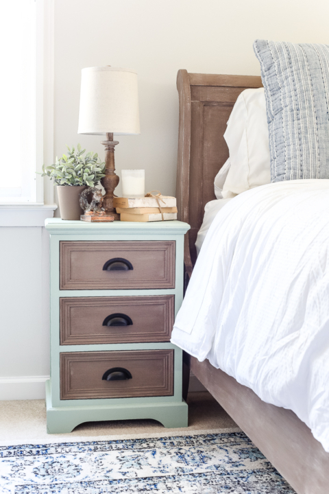 Two Tone Nightstand Makeover