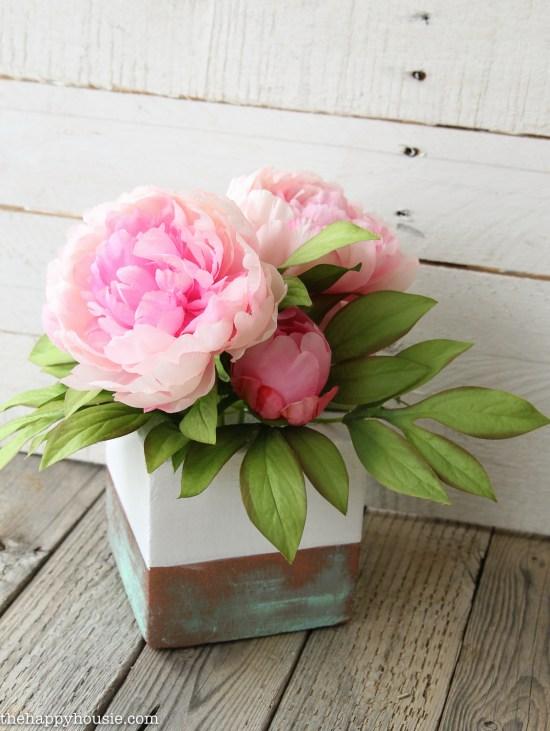 DIY Faux Copper Vase