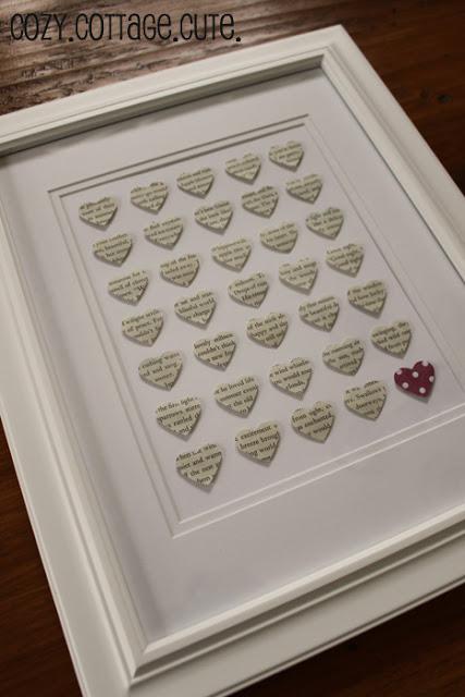 Book Page Valentine's Art