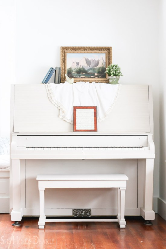 Milk Paint Piano Makeover
