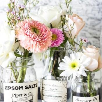 Spring Apothecary Jar Printables