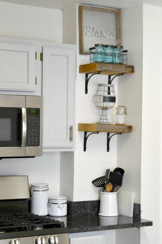 DIY Reclaimed Wood Shelves