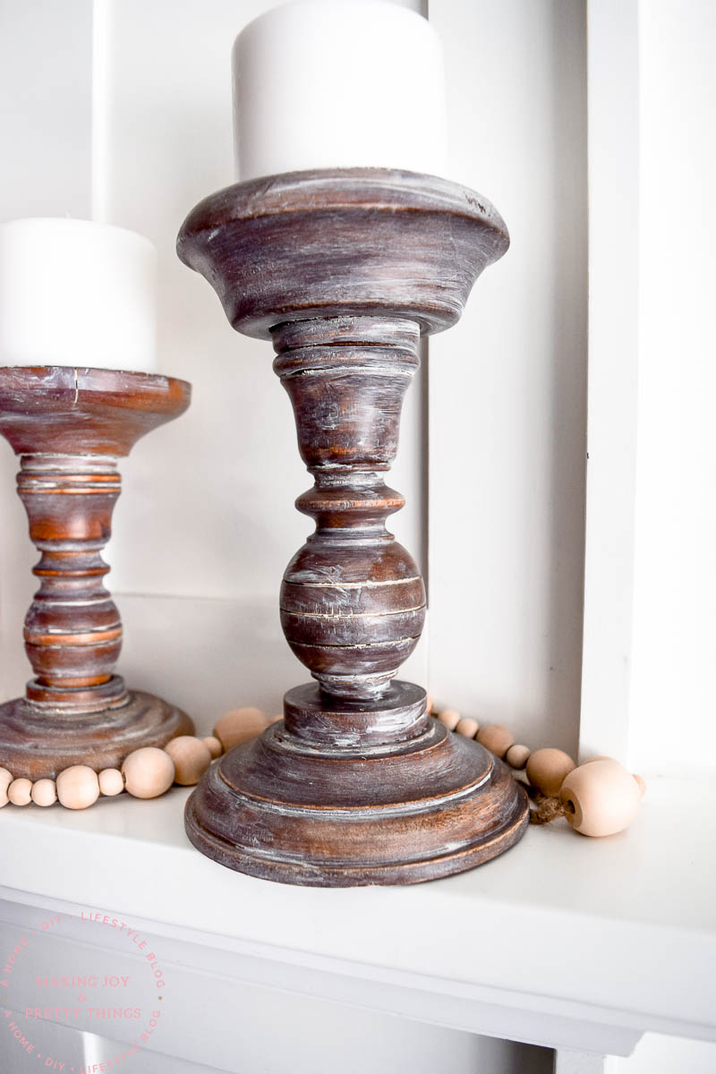 how to age new candle holders in just one step