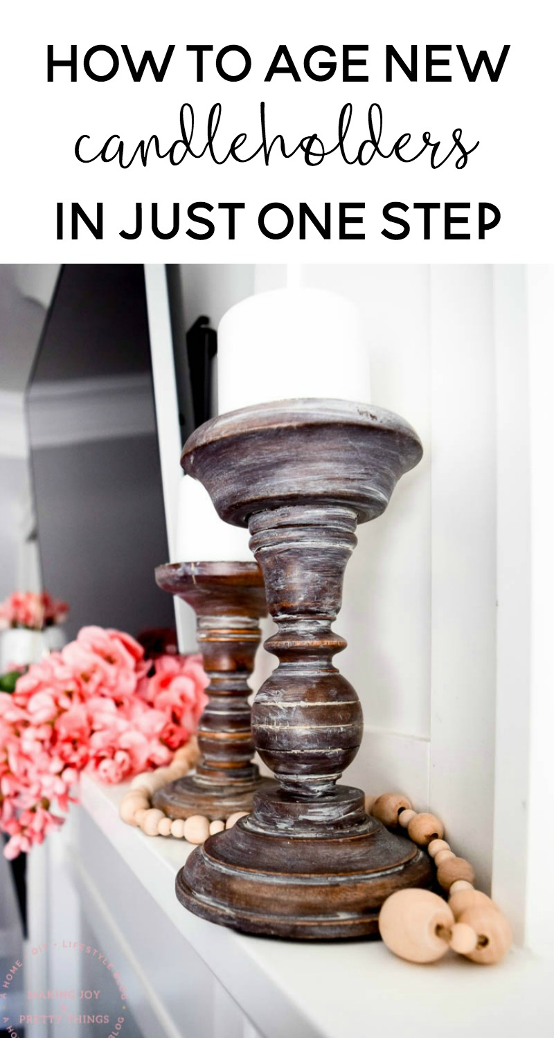 how to age new candleholders in just one step