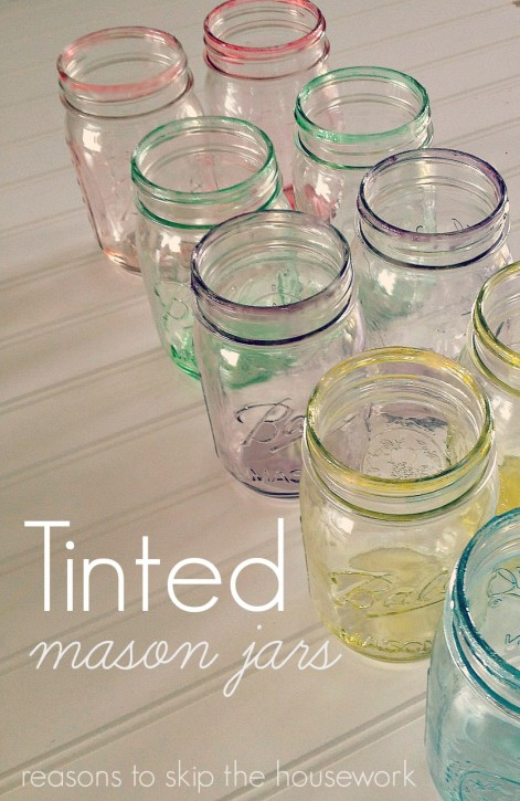 Tinted Mason Jars