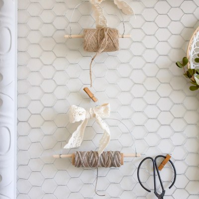 How to Make your own Rustic DIY Farmhouse Style Twine Dispenser