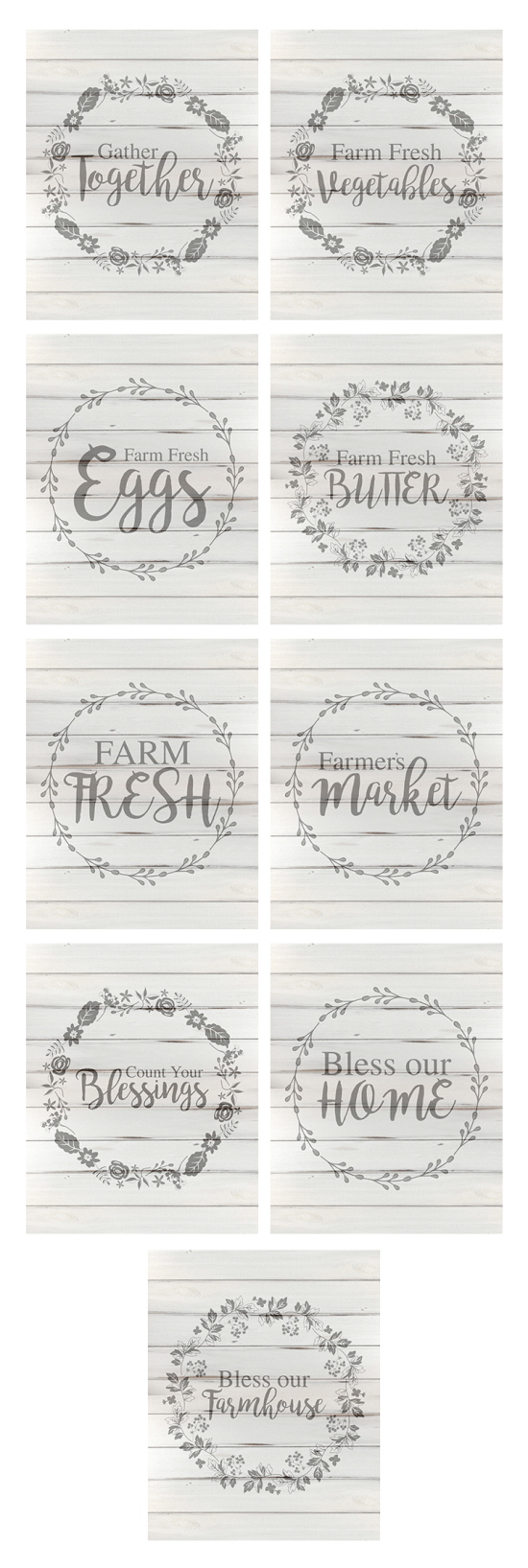 Free Farmhouse Printables