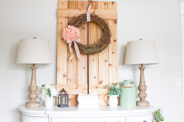 This simple farmhouse style painted book set is the perfect addition to any shelf, table or mantel!