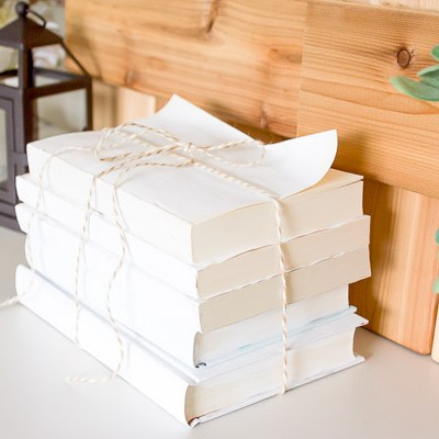 Farmhouse Home: How to Make a Beautiful Painted Book Set