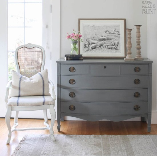 Pretty Farmhouse Dresser Makeover