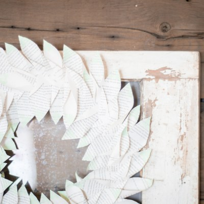 How to Make your own Magnolia Style Book Wreath